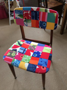 Revitalised chair by Megan Manwaring