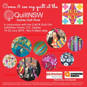 Come & See My Quilt at the Sydney Quilt Show