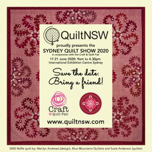 Sydney Quilt Show 2020 -Save the date