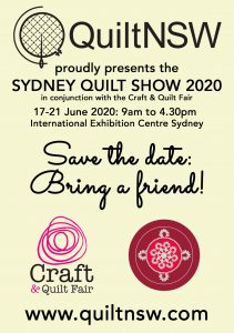 Sydney Quilt Show 2020 - Save the Date!